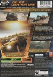 Box back cover for RalliSport Challenge 2 on the Microsoft Xbox.