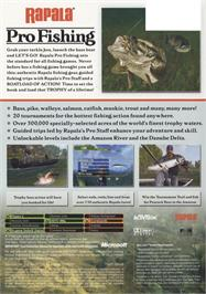 Box back cover for Rapala Pro Fishing on the Microsoft Xbox.