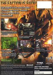 Box back cover for Red Faction 2 on the Microsoft Xbox.