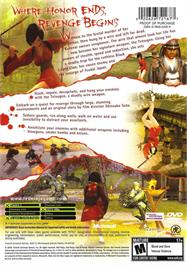 Box back cover for Red Ninja: End of Honor on the Microsoft Xbox.