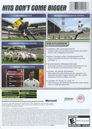 Box back cover for Rugby 2005 on the Microsoft Xbox.