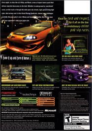 Box back cover for SRS: Street Racing Syndicate on the Microsoft Xbox.