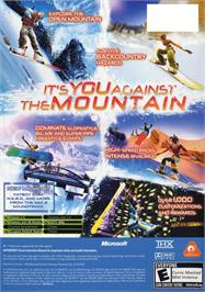 Box back cover for SSX 3 on the Microsoft Xbox.
