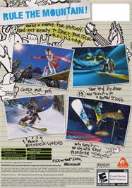 Box back cover for SSX on Tour on the Microsoft Xbox.