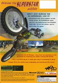 Box back cover for SX Superstar on the Microsoft Xbox.