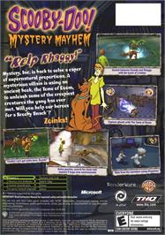 Box back cover for Scooby Doo!: Mystery Mayhem on the Microsoft Xbox.