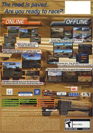 Box back cover for Sega GT Online on the Microsoft Xbox.