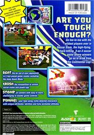 Box back cover for Sega Soccer Slam on the Microsoft Xbox.