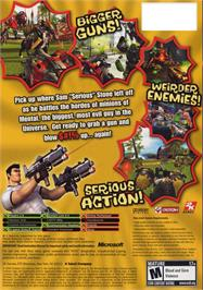 Box back cover for Serious Sam 2 on the Microsoft Xbox.