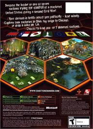 Box back cover for Shattered Union on the Microsoft Xbox.