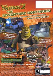 Box back cover for Shrek 2 on the Microsoft Xbox.