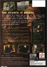 Box back cover for Silent Hill 2: Restless Dreams on the Microsoft Xbox.