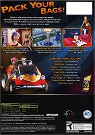 Box back cover for Sims: Bustin' Out on the Microsoft Xbox.