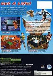 Box back cover for Sims on the Microsoft Xbox.