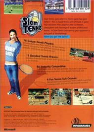 Box back cover for Slam Tennis on the Microsoft Xbox.