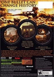 Box back cover for Sniper Elite: Berlin 1945 on the Microsoft Xbox.
