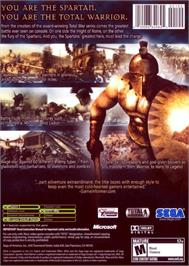 Box back cover for Spartan: Total Warrior on the Microsoft Xbox.