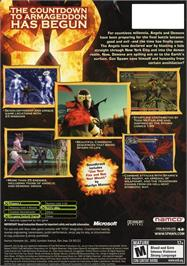 Box back cover for Spawn: Armageddon on the Microsoft Xbox.