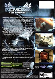 Box back cover for Special Forces: Nemesis Strike on the Microsoft Xbox.