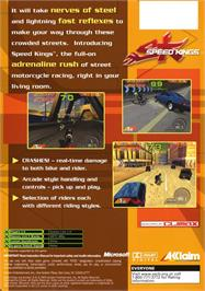 Box back cover for Speed Kings on the Microsoft Xbox.