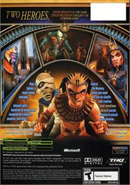 Box back cover for Sphinx and the Cursed Mummy on the Microsoft Xbox.