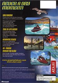 Box back cover for Splashdown on the Microsoft Xbox.