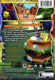 Box back cover for SpongeBob SquarePants: The Movie on the Microsoft Xbox.