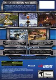 Box back cover for Spy Hunter 2 on the Microsoft Xbox.