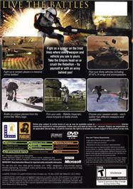 Box back cover for Star Wars: Battlefront on the Microsoft Xbox.