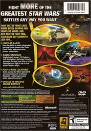 Box back cover for Star Wars: Battlefront 2 on the Microsoft Xbox.