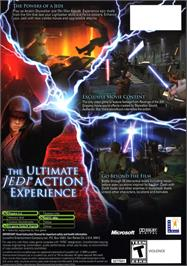 Box back cover for Star Wars: Episode III - Revenge of the Sith on the Microsoft Xbox.
