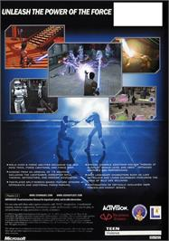 Box back cover for Star Wars: Jedi Knight II - Jedi Outcast on the Microsoft Xbox.