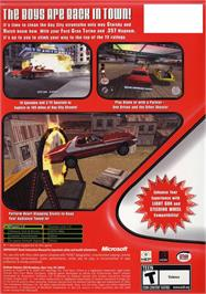 Box back cover for Starsky & Hutch on the Microsoft Xbox.