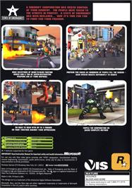 Box back cover for State of Emergency on the Microsoft Xbox.