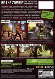Box back cover for Stubbs the Zombie in Rebel Without a Pulse on the Microsoft Xbox.
