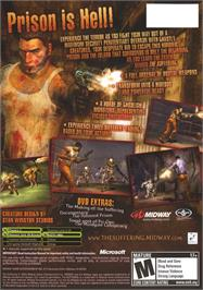 Box back cover for Suffering on the Microsoft Xbox.