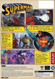 Box back cover for Superman: The Man of Steel on the Microsoft Xbox.