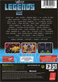Box back cover for Taito Legends 2 on the Microsoft Xbox.