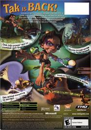 Box back cover for Tak 2: The Staff of Dreams on the Microsoft Xbox.