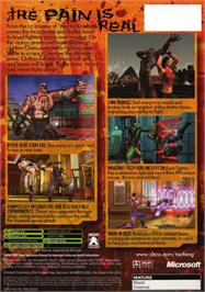 Box back cover for Tao Feng: Fist of the Lotus on the Microsoft Xbox.