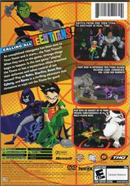 Box back cover for Teen Titans on the Microsoft Xbox.