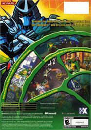 Box back cover for Teenage Mutant Ninja Turtles on the Microsoft Xbox.