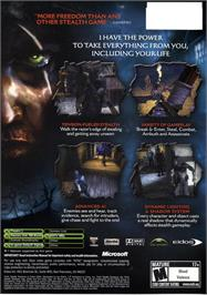 Box back cover for Thief: Deadly Shadows on the Microsoft Xbox.