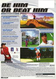 Box back cover for Tiger Woods PGA Tour 2003 on the Microsoft Xbox.