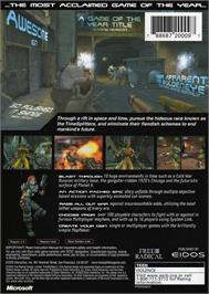 Box back cover for TimeSplitters 2 on the Microsoft Xbox.