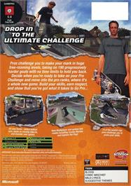 Box back cover for Tony Hawk's Pro Skater 4 on the Microsoft Xbox.