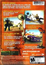Box back cover for Total Overdose: A Gunslinger's Tale in Mexico on the Microsoft Xbox.
