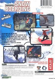 Box back cover for TransWorld Snowboarding on the Microsoft Xbox.
