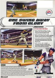 Box back cover for Triple Play 2002 on the Microsoft Xbox.