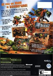 Box back cover for Ty the Tasmanian Tiger 2: Bush Rescue on the Microsoft Xbox.